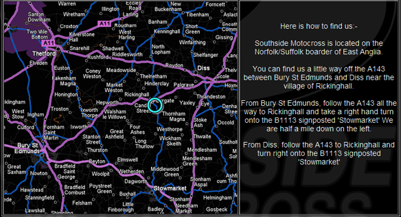 Southside Motocross is located on the Norfolk/Suffolk boarder of East Anglia.